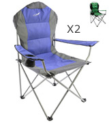 Divero ZGC34324_SL2 Deluxe Padded Folding Camping Chair