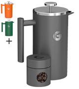 Coffee Gator CFT-1L-GRY Double Walled French Press