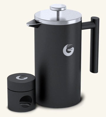 Die Übersicht über die Coffee Gator CFT-1L-GRY Double Walled French Press