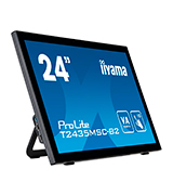 iiyama T2435MSC-B2 VA LED-Monitor Full-HD 10 Punkt Multitouch kapazitiv (DVI, HDMI, DisplayPort, USB2.0, Webcam, Mikrofon)